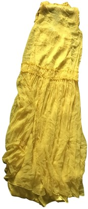 Thomas Wylde Yellow Silk Dress for Women