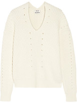 Acne Studios Bernice Ribbed Cotton-blend Sweater - Off-white