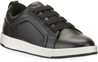 DKNY Marcelo Low-Top Leather Basket Sneakers