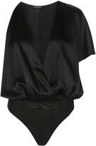 Cushnie V-neck draped silk blouse