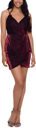 Blondie Nites Juniors' Metallic Bodycon Dress