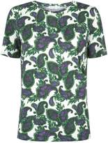Sandro Paisley Print Cotton T-Shirt, Brown, 1