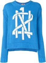 No.21 logo motif knitted jumper