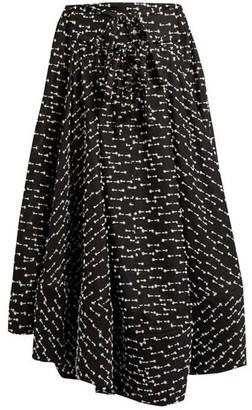 Rosie Assoulin Full A Line Gazar Skirt - Womens - Black White
