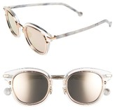 Christian Dior Women's 48Mm Round Sunglasses - Blue