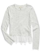 Tucker + Tate Girl's Mixed Media Crossover Sweater
