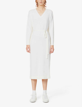 Max Mara Calamai belted wool maxi dress