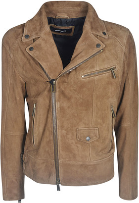 DSQUARED2 Classic Zipped Biker Jacket