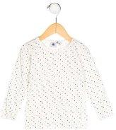 Petit Bateau Girls' Polka Dot Long Sleeve Top