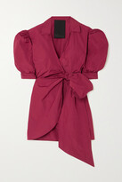 Thumbnail for your product : RED Valentino Taffeta Mini Wrap Dress - IT46