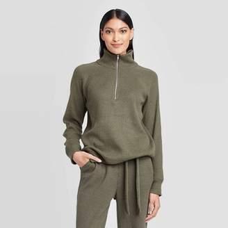 Who What Wear Women's Turtleneck Cozy Half Zip Sweatshirt - Who What WearTM