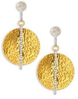 Gurhan Lush Diamond, 24K Yellow Gold & 18K White Gold Drop Earrings