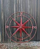3r Studio Round Metal Compass Wall Decor