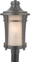 Quoizel Harmony 3 Light Outdoor Post Fixture in Imperial Bronze
