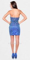 Atria Royal Blue Multicolored Jeweled Fitted Homecoming Dress
