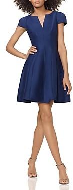 Halston Notched Boatneck Dress