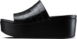 FitFlop Eloise Croc-Print Wedge Slides
