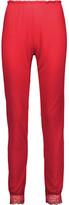 Eberjey Cassandra Lace-Trimmed Stretch-Jersey Pajama Pants
