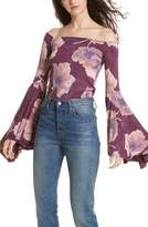 Free People Women's Birds Of Paradise Print Off The Shoulder Top