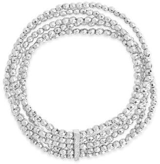 Sterling Forever 14K Rhodium 5 Row Beaded Bracelet
