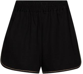 Fendi High-rise denim shorts