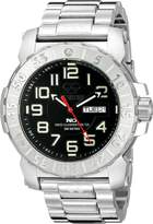REACTOR Men's 50001 Trident 2 Analog Display Quartz Silver Watch
