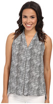 Vince Camuto Sleeveless Starlight Dots V-Neck Blouse w/ Front Pleat