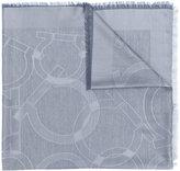 Salvatore Ferragamo logo scarf - women - Silk/Cashmere - One Size