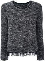 Theory frayed hem jumper