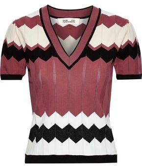 Diane von Furstenberg Janelle Crochet-knit Top