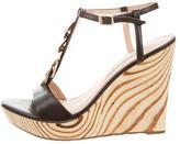 Diane von Furstenberg Embellished Wedge Sandals