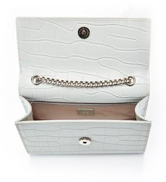 Ha Designs Personalised Initial Grey Croc Chain Bag