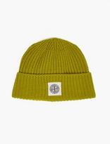 Stone Island Green Wool-Blend Logo Beanie
