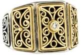 Konstantino Two-Tone Diamond Filigree Ring