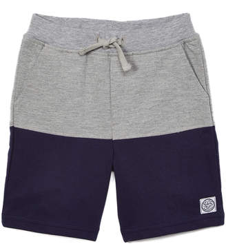 SAM. Sophie & Boys' Casual Shorts Gray - Gray & Navy Color Block Shorts - Toddler & Boys
