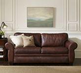 Pottery Barn Pearce Leather Sleeper Sofa