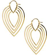 Noir Twiggy Gold-Tone Hoop Earrings