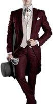 MRYSY Tailcoat Groom Tuxedos Best Man Groomsmen Men Wedding Suits