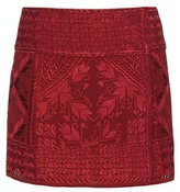 Isabel Marant Andy Embroidered Silk Wrap Skirt