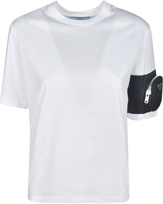 Prada Zipped Pocket Applique T-shirt