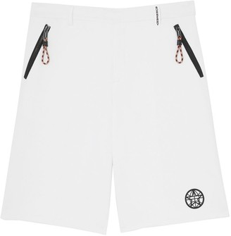 Burberry Globe Graphic Cotton Tailored Shorts