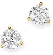 Bloomingdale's Certified Diamond Stud Earrings in 18K Yellow Gold Martini Setting, 1.0 ct. t.w. - 100% Exclusive