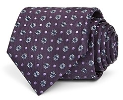 Canali Floral Dot Silk Classic Tie