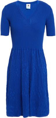 M Missoni Ribbed Cotton And Crochet-knit Mini Dress