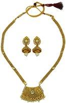 Matra Traditional Bollywood Goldtone Indian 2 Pcs Necklace Set Bridal Women Jewelry