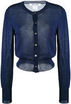 Comme des Garcons round neck cardigan - women - Nylon/Rayon - XS