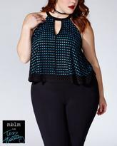 Penningtons Tess Holliday - Sleeveless Halter Top with Cut Outs