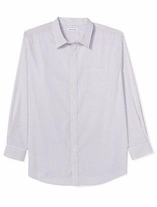 Amazon Essentials Men's Big & Tall Wrinkle-Resistant Long-Sleeve Pattern Dress Shirt
