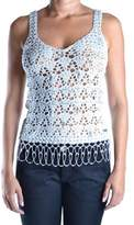 Galliano Women's Silver Wool Tank Top.