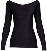 The Row Jinu wrap-front cashmere sweater